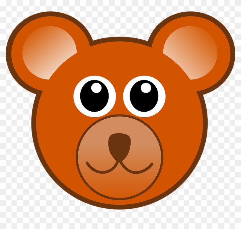 Cartoon Teddy Bear Face #97690