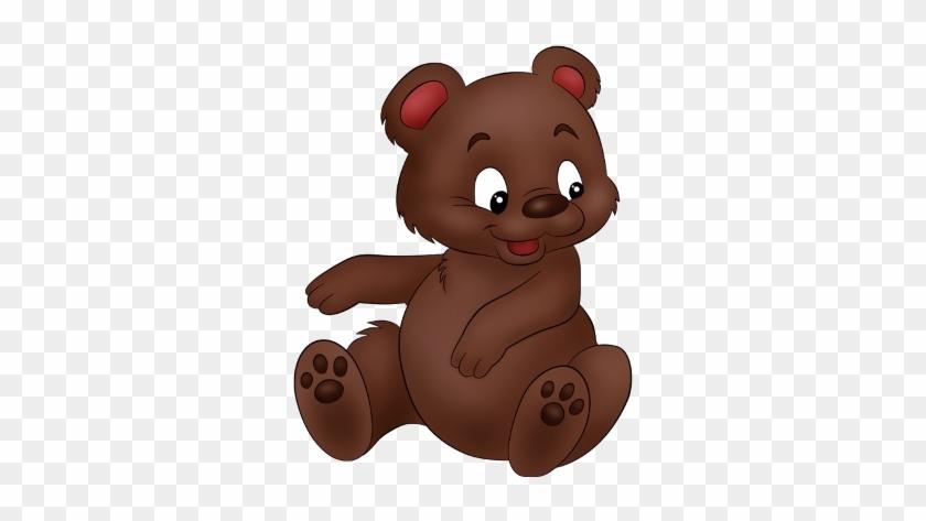 Grizzly Bear Clipart Baby - Cute Cartoon Brown Bear #97698