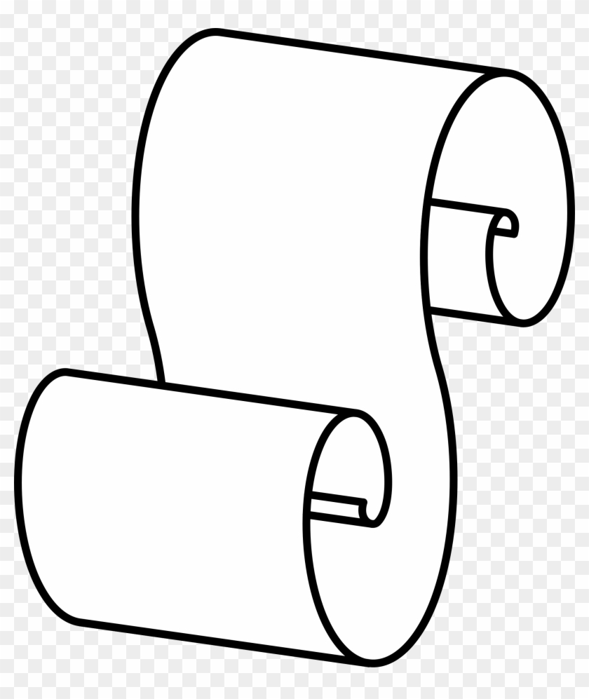 Free Scroll Clipart Free Images 2 - Outline Scroll #97788