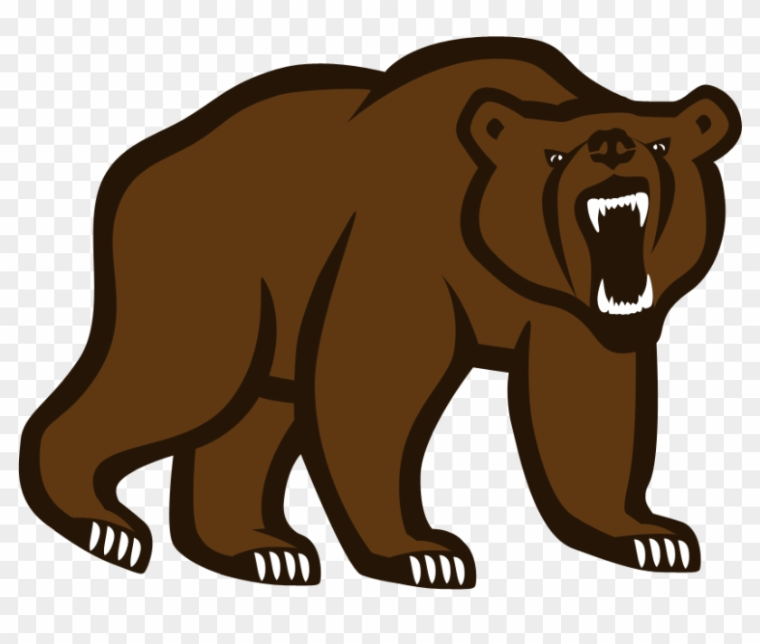 Grizzly Bear Logo - Grizzly Bear Standing Clipart #97809