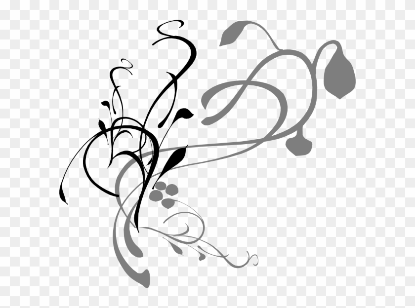 Scroll Frame Clipart Besides Flourish Decorations Flourish - Lines, Vines And Trying Times #97821