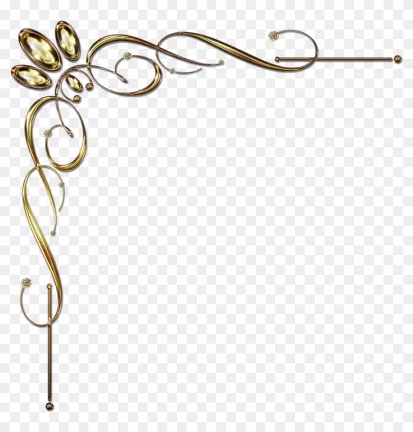 Golden Corner Ornament 1 By Lyotta On Deviantart Qkugjk - Golden Corner Png #97870
