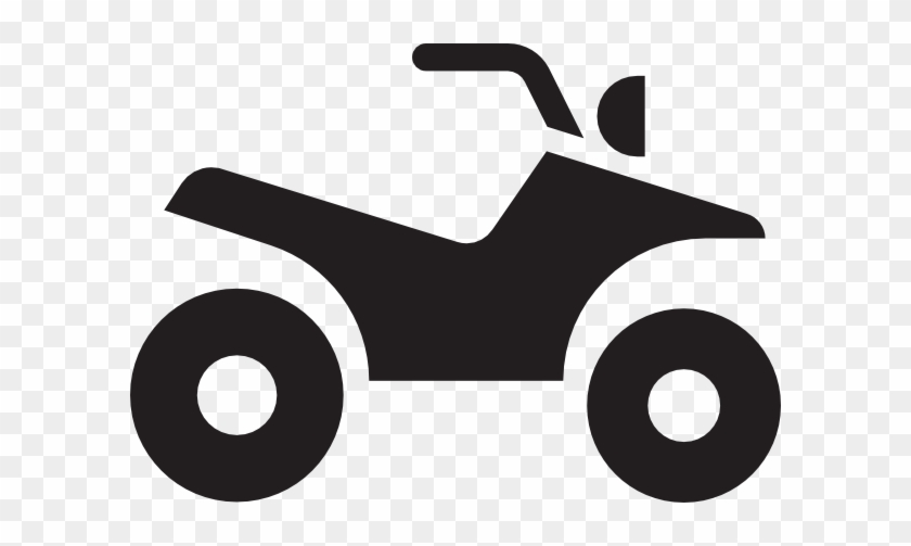 Free Vector Atv White Clip Art - Two Wheeler Parking Logo #97888