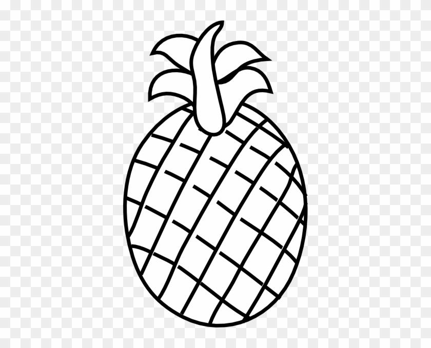 Pineapple Black And White Pineapple Clip Art At Vector - Pine Apple Clipart Black And White #97939