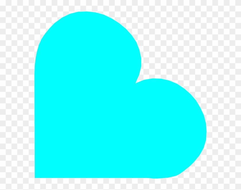 Aqua Tilt Heart Clip Art - Teal Heart Clipart #97953