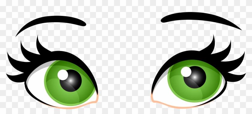 Green Female Eyes Png Clip Art - Clip Art Green Eyes #97990