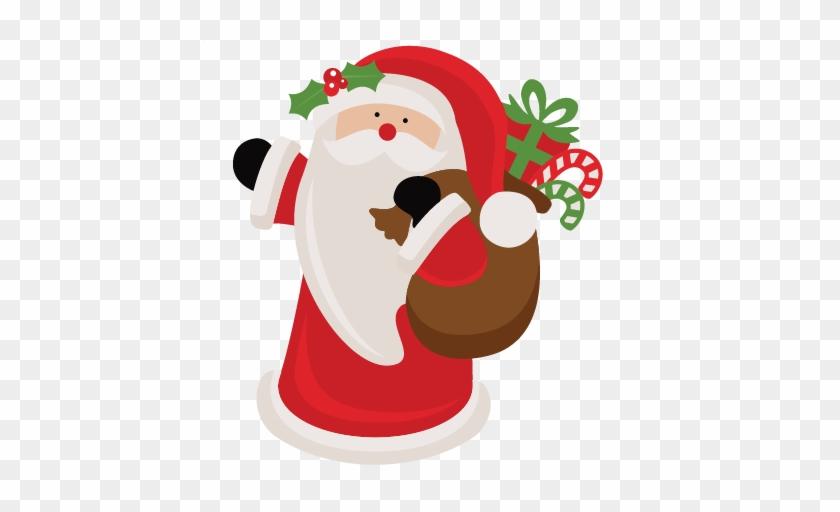 Santa Claus Svg Scrapbook Cut File Cute Clipart Files - Scalable Vector Graphics #97986
