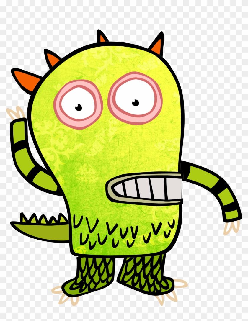 Monster Clip Art Kids Green Monster Cartoon Green - Monster Kids Png #97993