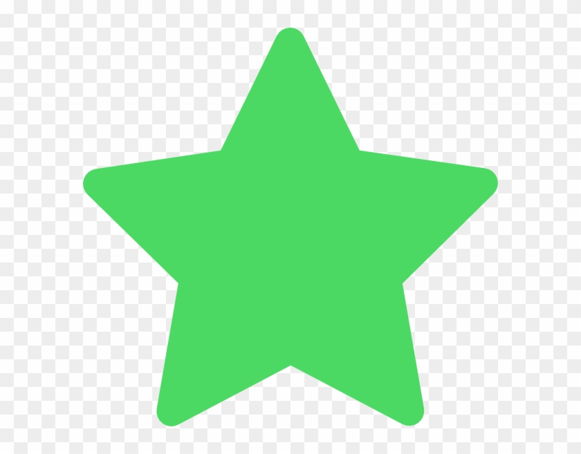 Star Green Favorite Clip Art - Green Star Icon Png #97994
