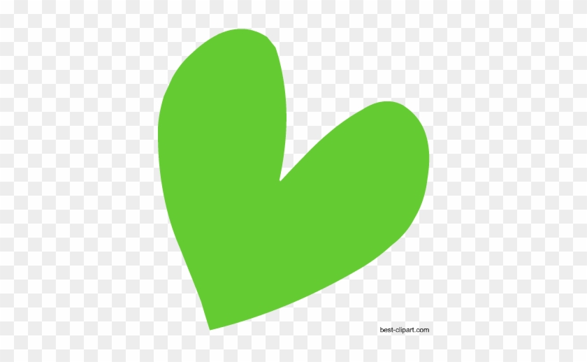 Heart In Green Color, Free Clip Art Image - Green #97998