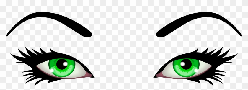 Green Female Eyes Png Clip Art - Green Eyes Clip Art #98019