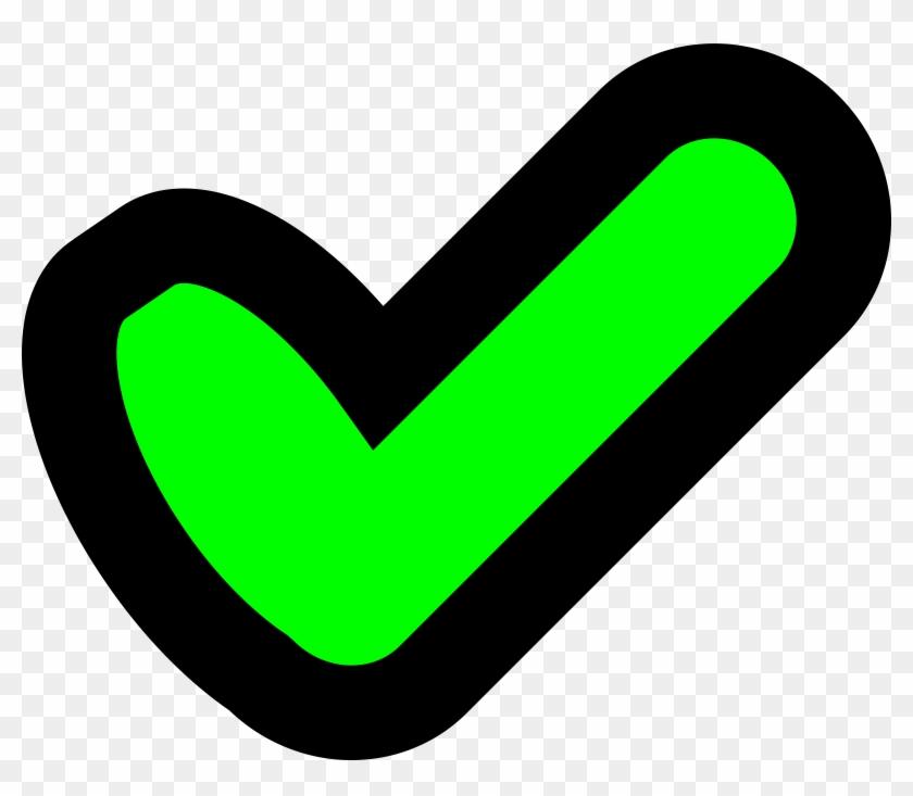 Green Tick Clipart Tick - Cartoon Tick And Cross #98024