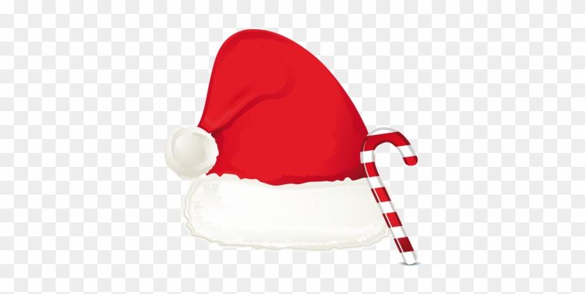 Santa Hat Cartoon Clip Art At Vector Clip Art Image - Santa Hat And Candy Cane #98027