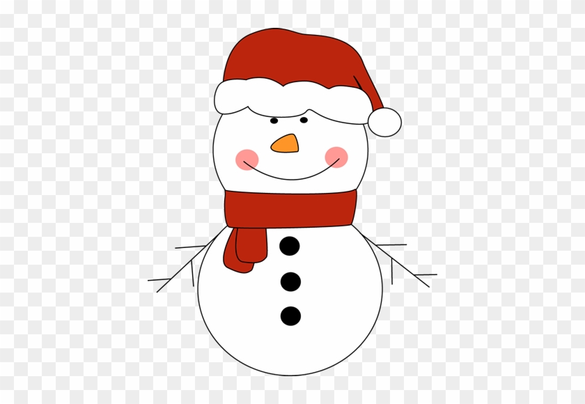 Snowman In Santa Hat Clip Art Free Clipart Images - Snowman With Red Hat #98038