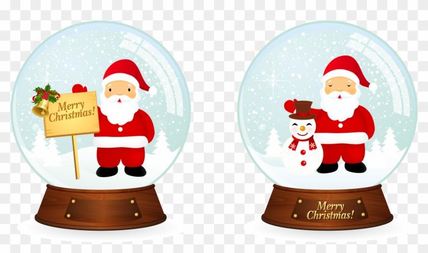 Free Vector Vector Santa Christmas Snowballs - I I Heart Christmas Santa Claus Mug #98042