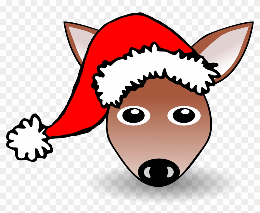 Clip Art Details - Cartoon Face Of Funny Santa #98044