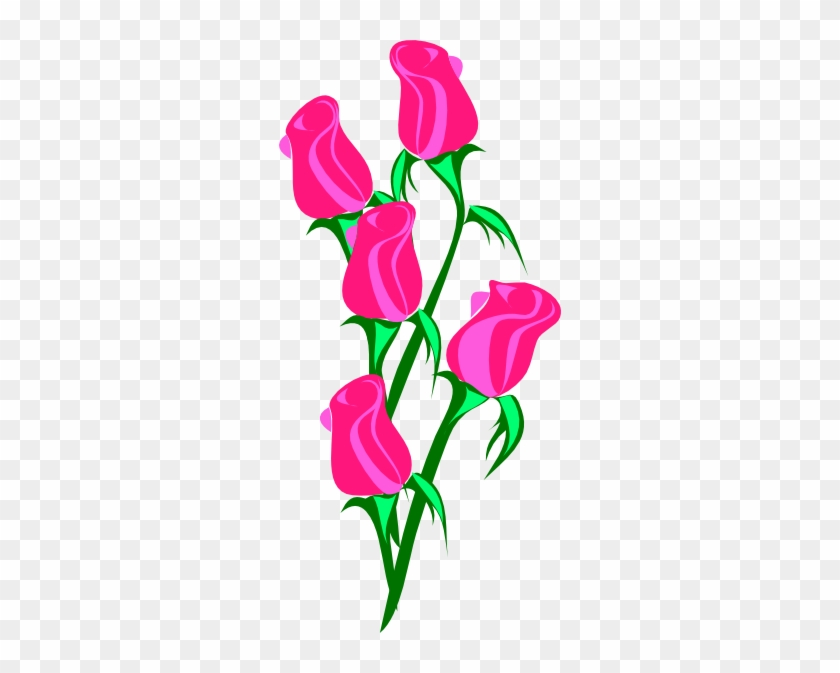 Pink Rose Clip Art - Roses Clip Art #98048
