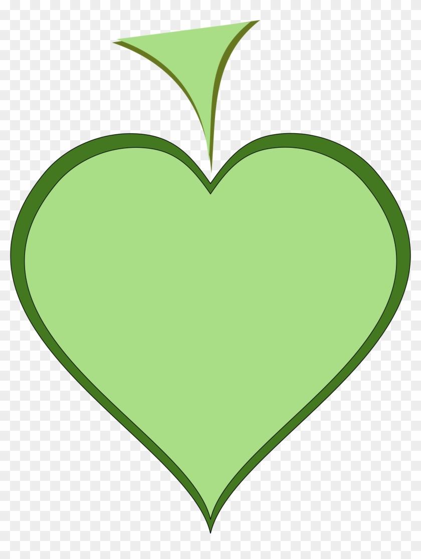 Cartoon Green Clipart - Clip Art Thick Heart #98062