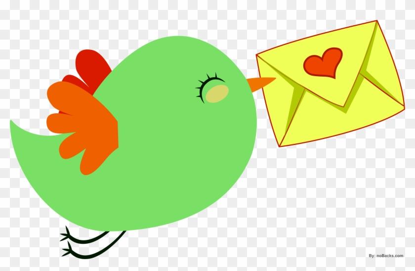 Bird Penguin Love Letter Clip Art - Bird Penguin Love Letter Clip Art #98127