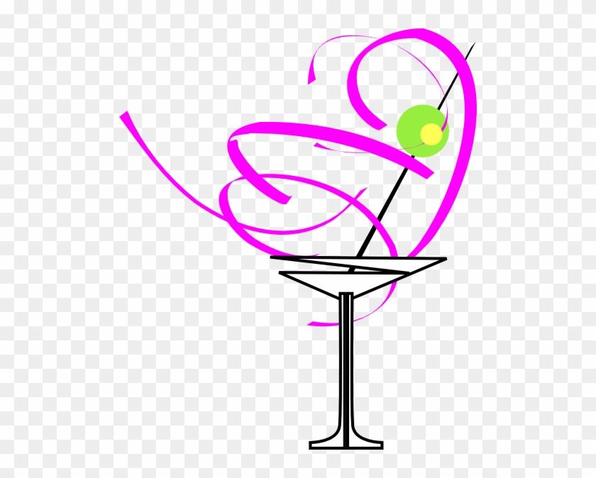 Martini Glass Pink Clip Art At Clker - Green Swirl #98105