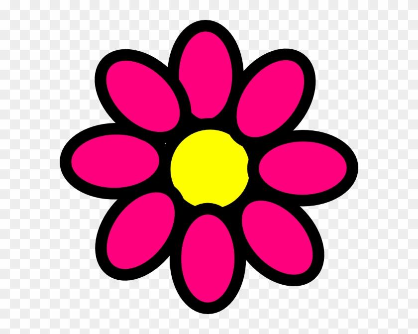 Pink Flower Clip Art At Clker Com Vector Clip Art Online - Girly Flowers Clip Art #98106