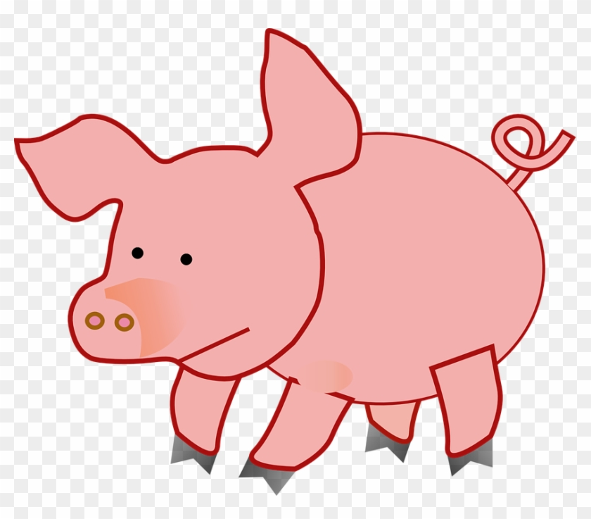 Pictures Of Pink Pigs - Cute Pig Clipart #98115
