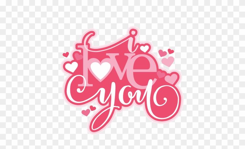 I Love You Dog Clip Art - Love You Clipart Cute #98129