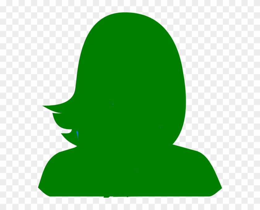Green Woman Silhouette Clip Art - Green Silhouette #98153