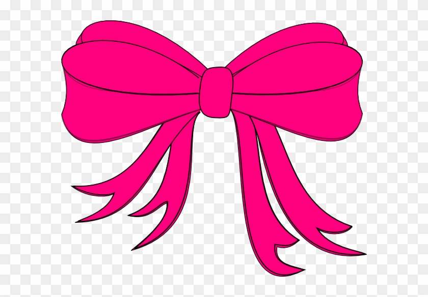 Pink Bow Darla Clip Art At Clker - Pink Bow Clipart #98198