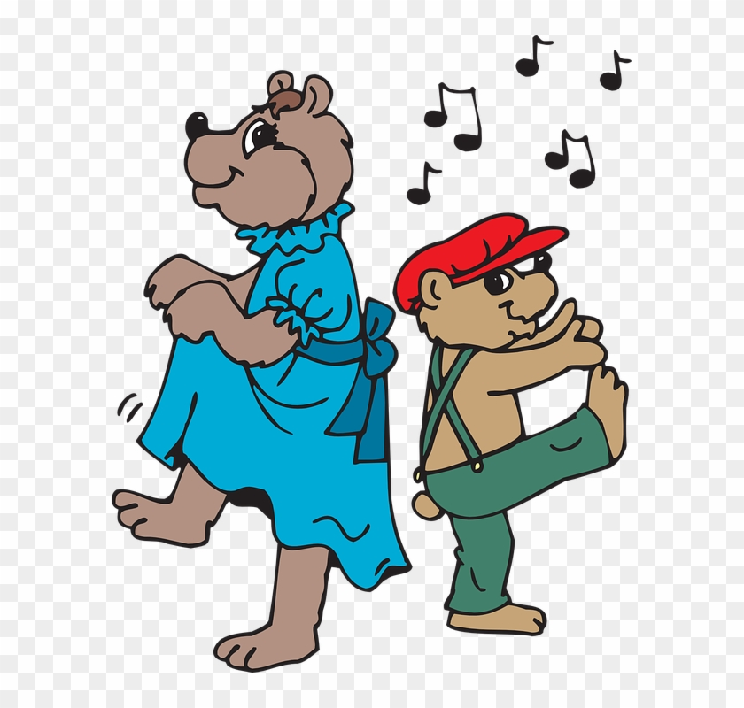 Dance Music Notes Bears Dancing Note Disco Party - Clipart Png Dance #98266