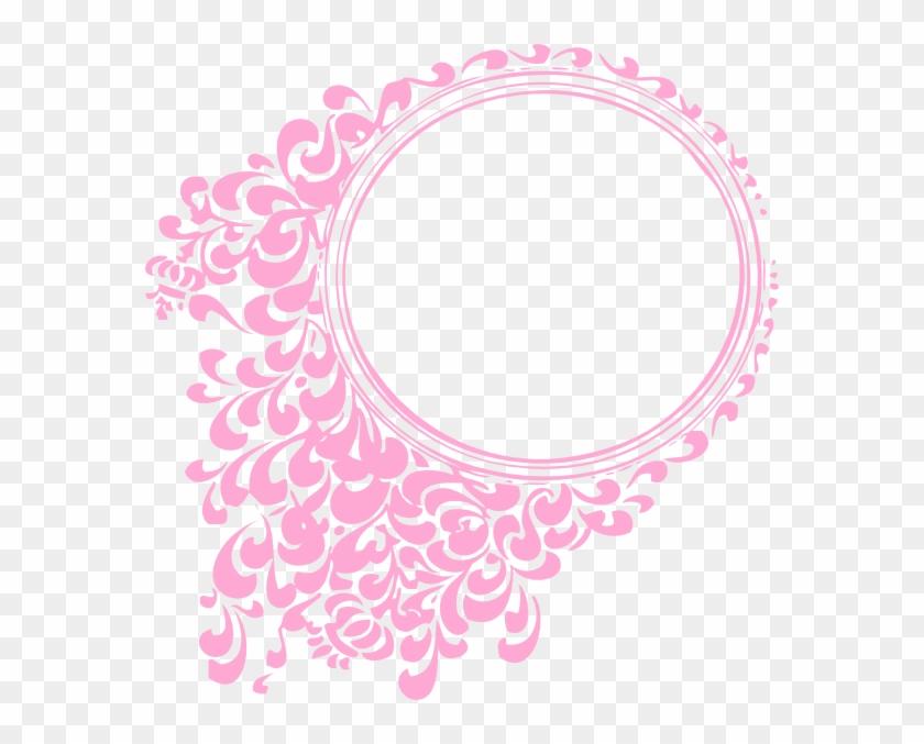 Pink Oval Frame Clip Art At Clker - Oval Border Pink #98278