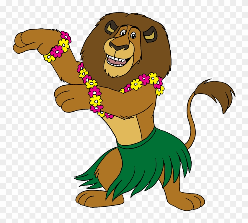 Hula Alex By Lionkingrulez On Clipart Library - Hula Dancer Cartoon #98288