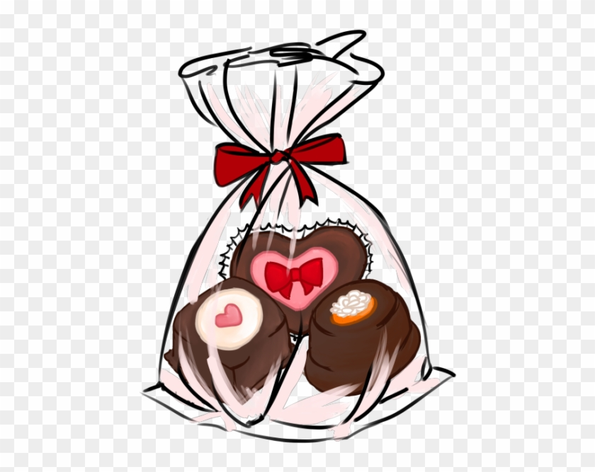 I Know How Much You Enjoy Home Made Sweets So Try Not - Bag Of Chocolates Clip Art #98291