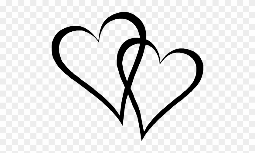Two Elongated Hearts - Clip Art #98360