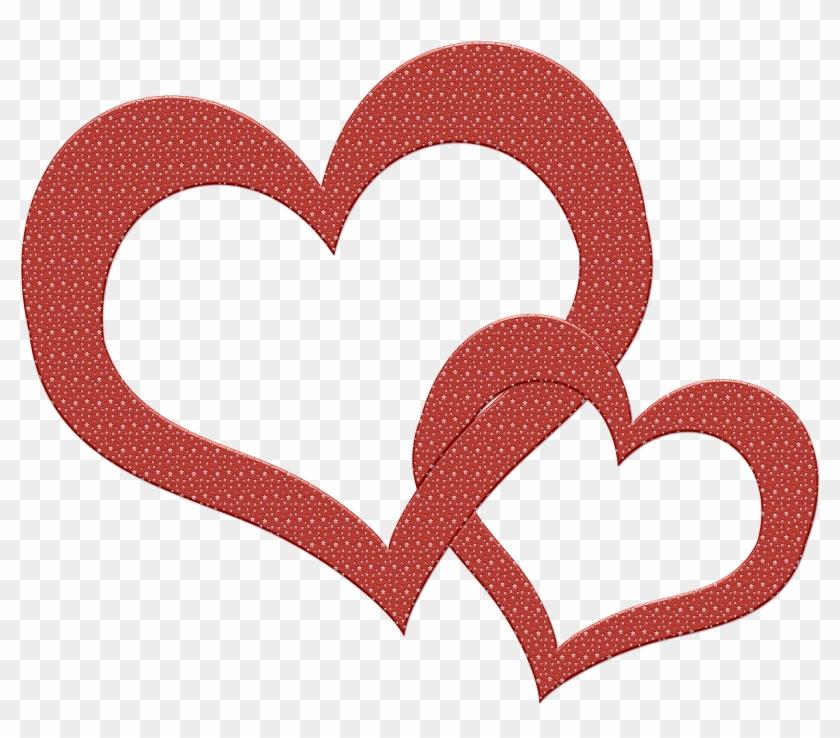 Interlocking Valentine's Day Hearts By Sips On Pixabay - Stickers Facebook #98372