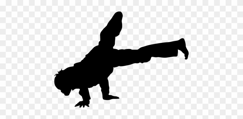 Break Dance Clip Art - Breakdancing Moves Black And White #98369
