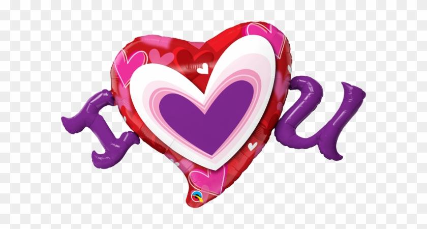 "I Heart U 46"" Supershape Balloon - Balloon #98375"