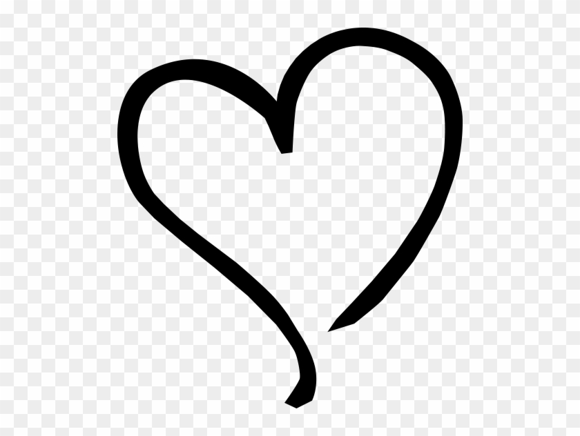 Tilted Heart - Sideways Heart Clip Art #98385