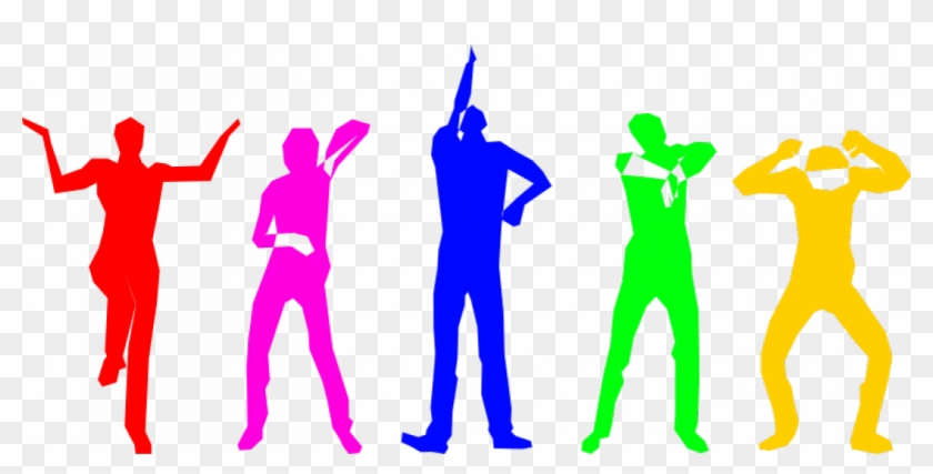 Dance Clip Art - Color People Silhouette Png #98423