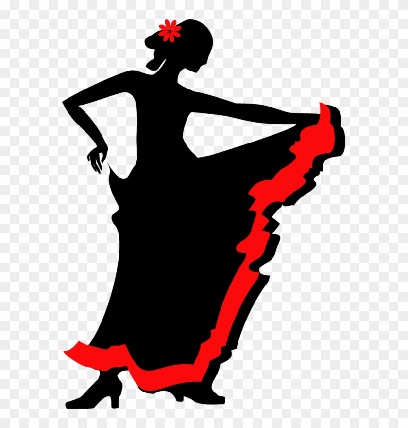 Flamenco Dance Silhouette Clip Art - Фламенко Силуэт #98435