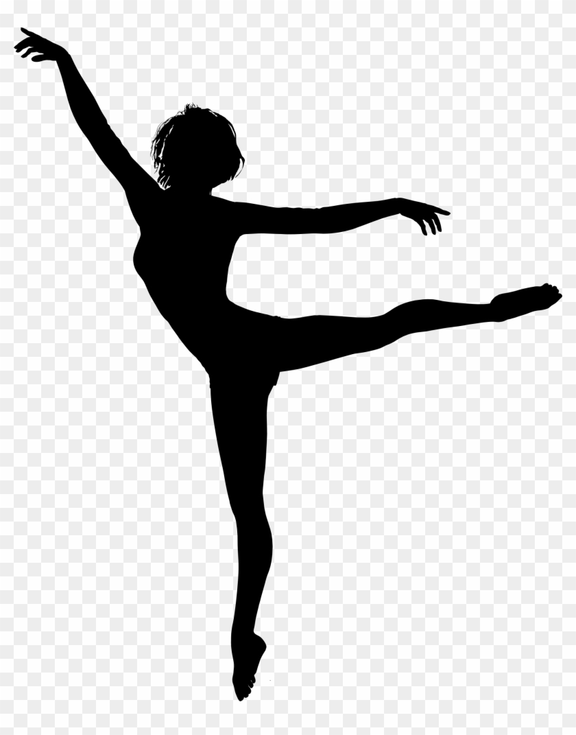 Clipart - Silhouette Of Person Dancing #98471
