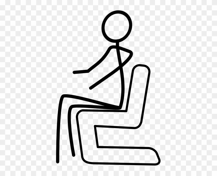 Sitting Stickman Clip Art - Draw A Stick Figure Sitting Down #98483