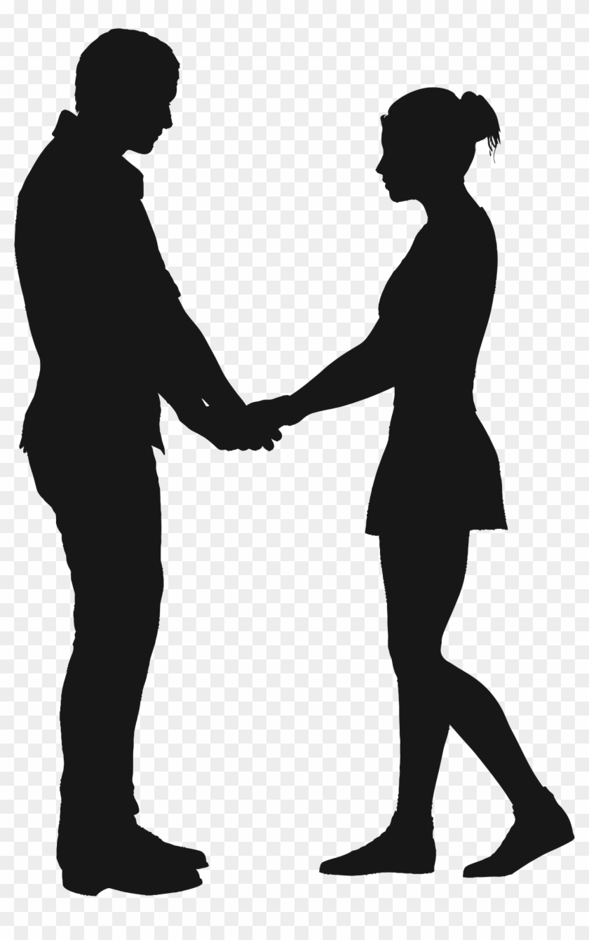 Couples Silhouette Clip Art 13 - Boy And Girl Holding Hands Silhouette #98495