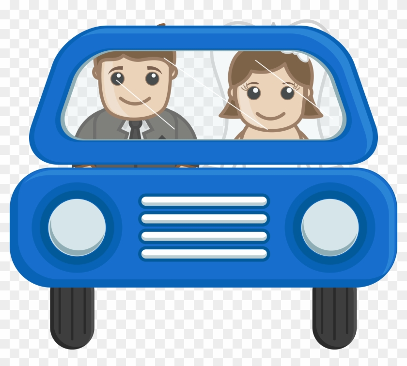 Couple Going In Car Cartoon Vector Png Clipart - Transparent Cartoon Cute Couple Png #98511