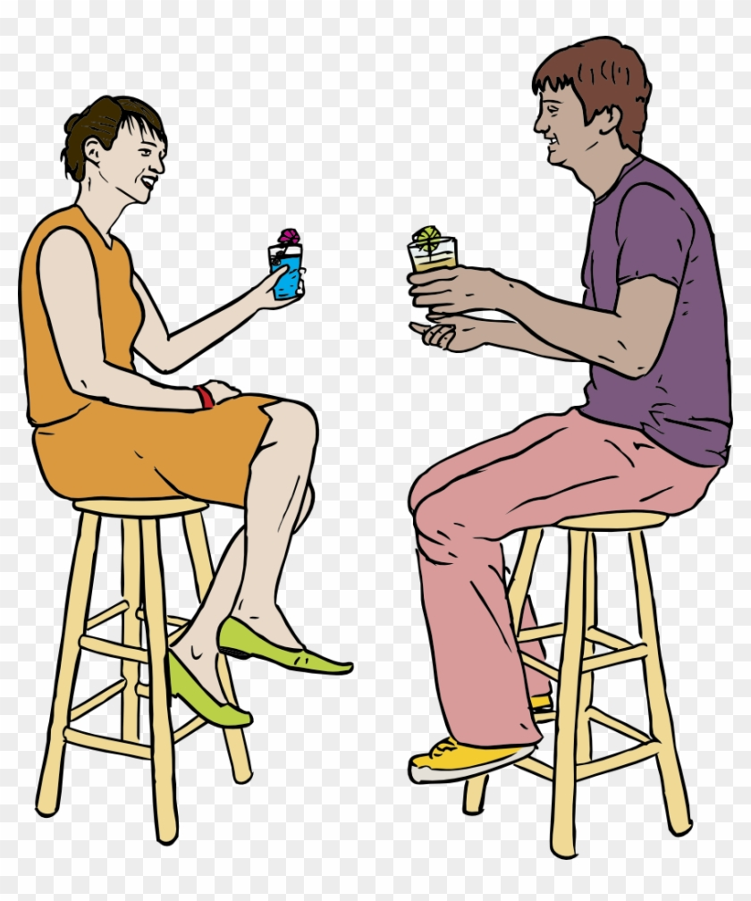 Couple Having Drinks - Drinking In Bar Png #98516