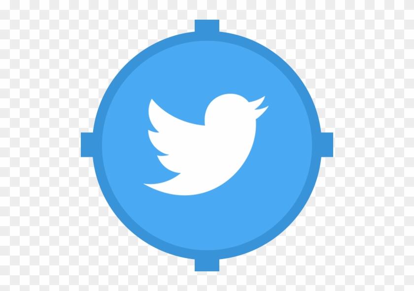 Twitter Icon Flat Circle #98532