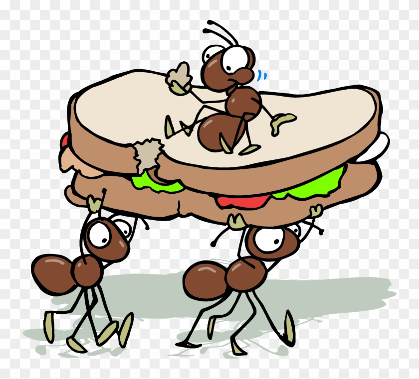Picnic Ants Clipart Pencil And In Color - Cartoon Ants Picnic #98557