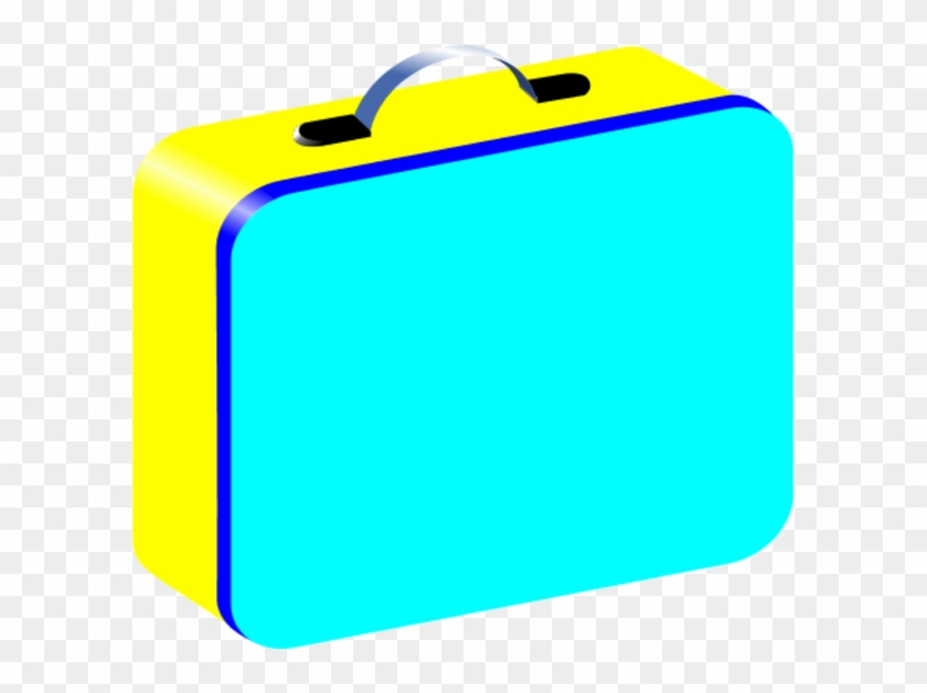 Blue Yellow Red Lunchbox Vector Clip Art - Lunch Box Clipart Background #98573