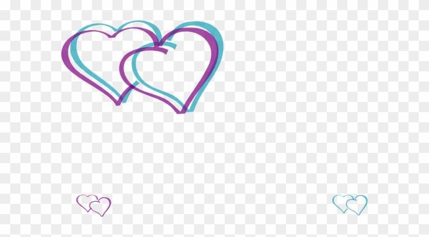 Double Hearts Clip Art - Small Double Hearts #98589