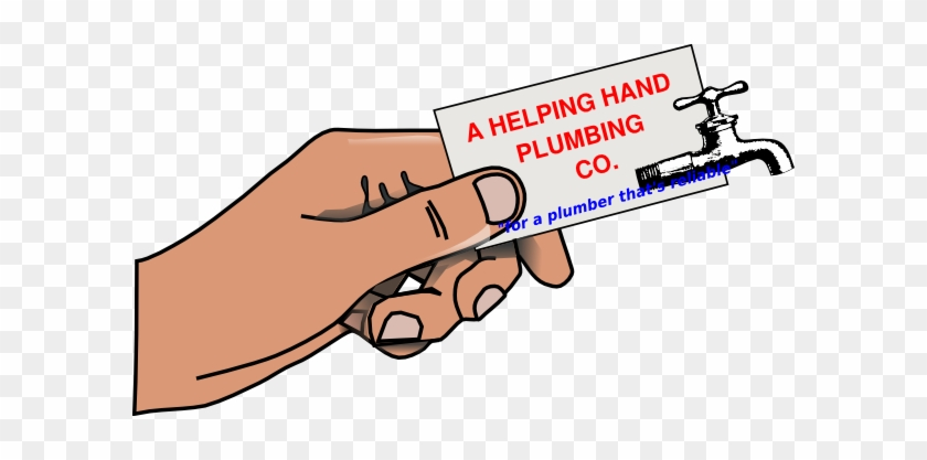 Helping Hand Plumbing Clip Art - Business Card Clip Art #98597